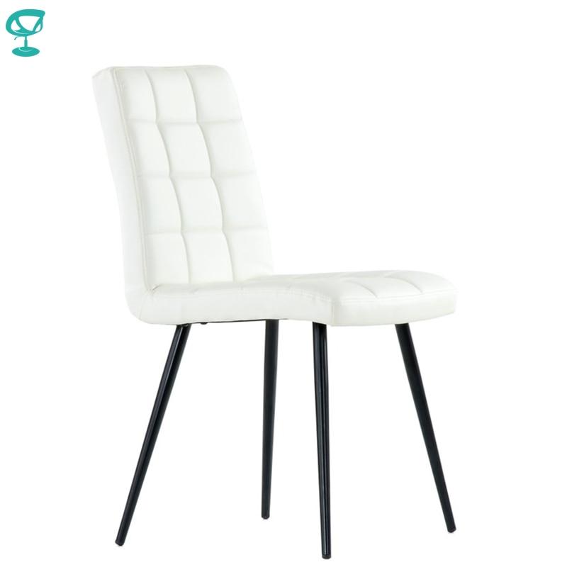 S48L2PuWhite Barneo S-48 Eco-Skin  Kitchen Breakfast Interior Stool Bar Chair Kitchen Furniture White Free Shipping In Russia