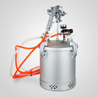 VEVOR 30 PSI Pressure Tank Paint 2 1/2 Gallon Pressure Pot and Spray Gun with 1.5 MM Nozzle Paint Sprayer for Large Volume Paint