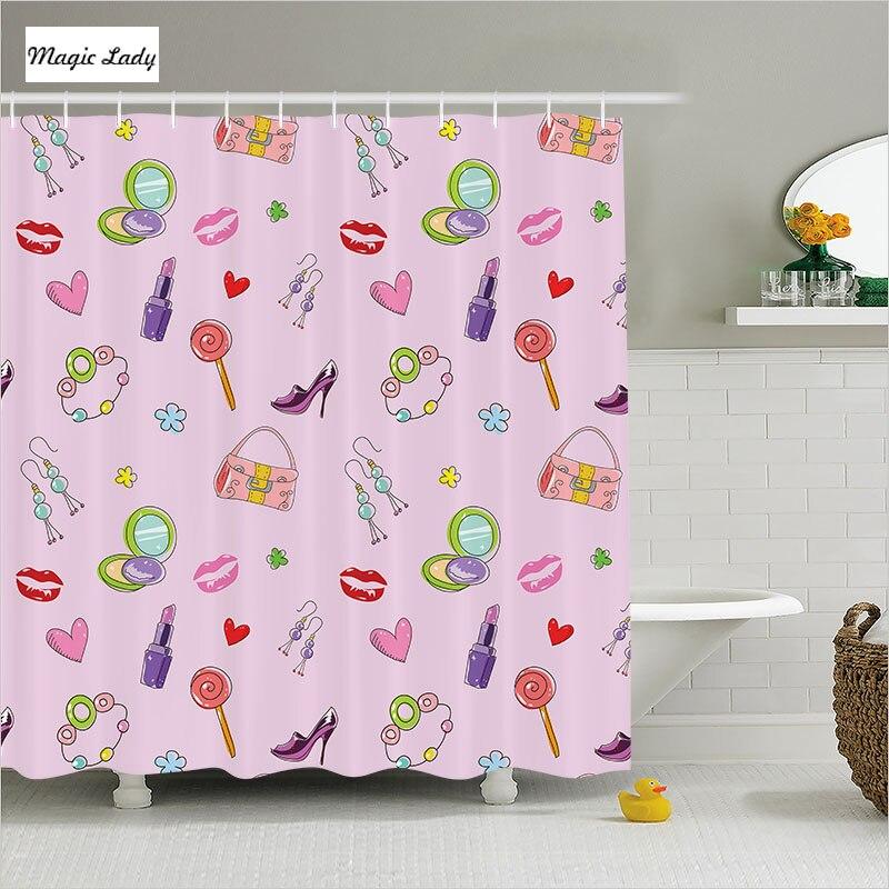 Shower Curtains For Girls Bathroom Accessories Teen Decor ...