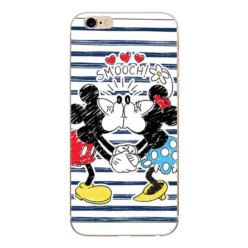 Caso Sveglio Del Fumetto di Minnie Del Silicone Dello Specchio Custodie per il iphone Caso di X TPU Mickey Mouse per il Caso di iphone X 7 8 5 5 s SE 6 6 s Caso