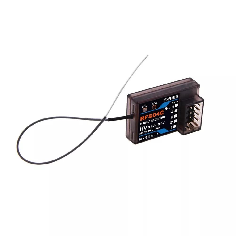 MotiveRC RFS04C 2,4G 4CH + SBUS Kompatibel Empfänger Für Futaba 4PX, 7PX, 4PV, 3PV S-FHSS System RC Racing Auto