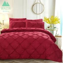 цена WAZIR luxury Pinch Pleat Embroidery Flower Bedding Set Duvet Cover Twin Full Queen King 4 Sizes Duvet Cover pillowcase bed sheet онлайн в 2017 году