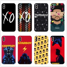 2018 New The Weeknd Starboy Pop Singer Soft Silicone TPU Case For iPhone X XR MAX XS 8 8Plus 6 6S 6Plus  5 11 11PRO SE
