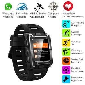 Image 3 - Makibes G08 1 Jahr Garantie GPS Uhr Kompass Armbanduhr Bluetooth Smart Uhren Wasserdicht Herz Rate Multi sport Doppel Elf