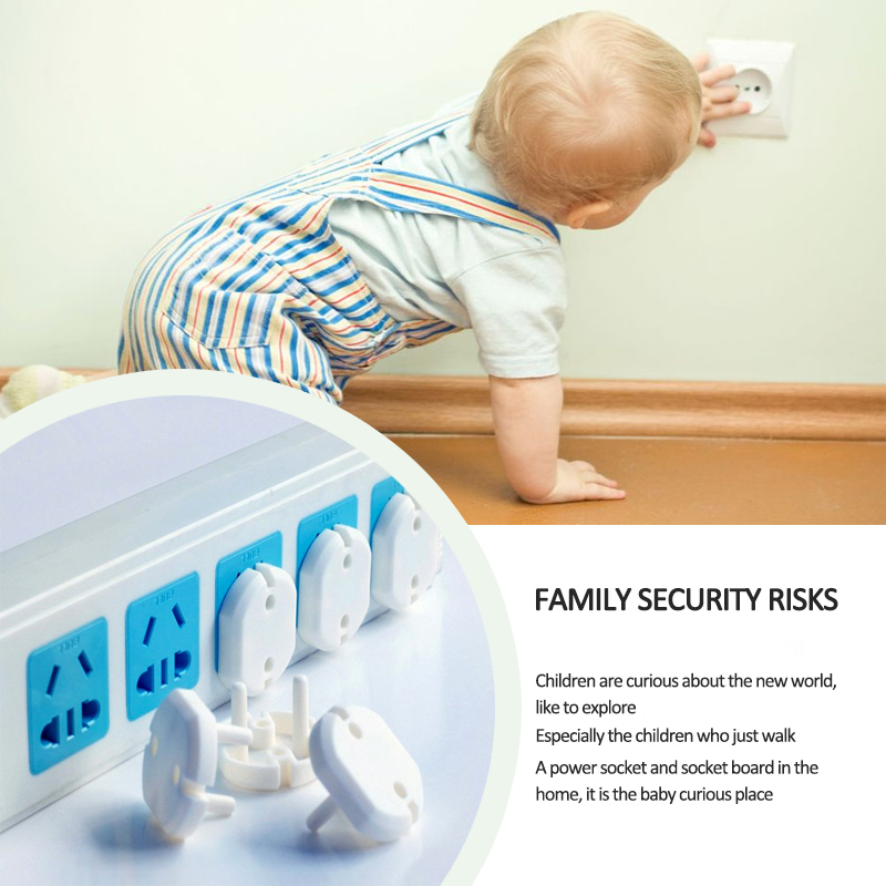New 5 pcs Russian EU European Euro Standard Child Electric Socket Outlet Plug Two Phase Safe Lock Cover for Baby Kids Safety