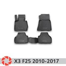 Для BMW X3 F25 2010-2017 Коврики для пола Нескользящая полиуретановая предохранение от грязи интерьерные Аксессуары для автомобилей