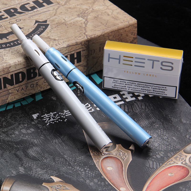 Forma Cilíndrica Original Bateria 900mah cigarro E Cigarro vape kit para aquecimento de Tabaco Seco vaporizador de cigarro