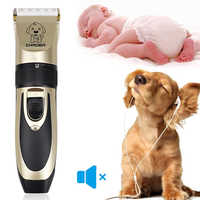 Professional Rechargeable Pet Cat Dog Hair Trimmer Electrical For Dog Hair Clipper Grooming Shaver Set Pets Haircut Machine 40S2