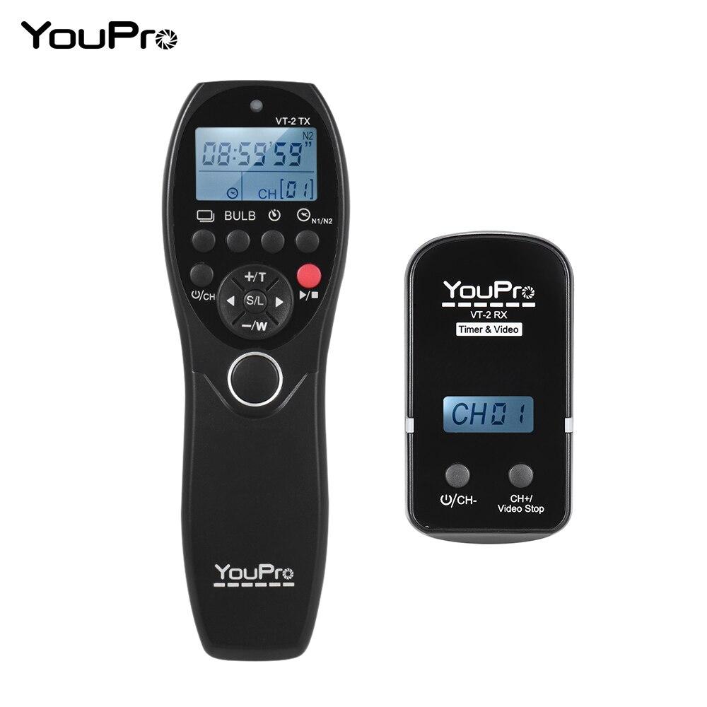 YouPro VT 2 LCD Timer di Scatto Video Trasmettitore Ricevitore per Sony Fotocamere Videocamere Wireless Remote Control Commander-in Scatto automatico da Elettronica di consumo su AliExpress - 11.11_Doppio 11Giorno dei single 1