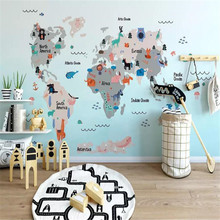 Cartoon world childrens room background wall professional making murals, wallpaper wholesale, custom poster photo