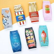 Kawaii гамбургер школьный чехол-карандаш для детей, подарок, милая закуска, ручка, сумка, коробка, канцелярские принадлежности, органайзер, офисные принадлежности Zakka