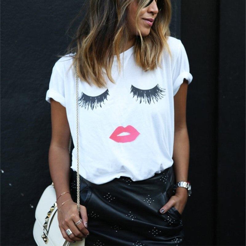 5XL Big Size 2018 New Fashion letters Print tshirts Female T-shirt Plus Size Sum