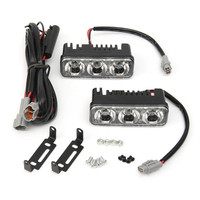 2pcs 18W Waterproof Zinc Alloy Car Auto LED Daytime Running Lights With Lens Super White 6000K