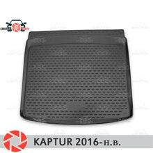Для Renault Kaptur 2016-коврик для багажника коврики для пола Нескользящие полиуретановые грязезащитные багажник для стайлинга автомобилей