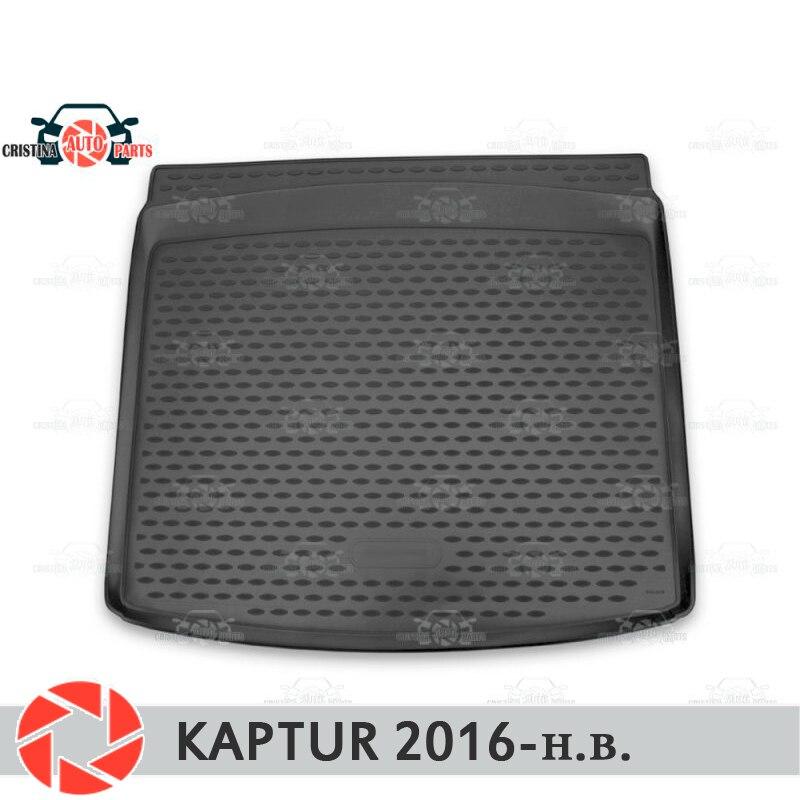 Para Renault Kaptur 2016-mat tronco tapetes do assoalho antiderrapante poliuretano proteção sujeira interior tronco car styling