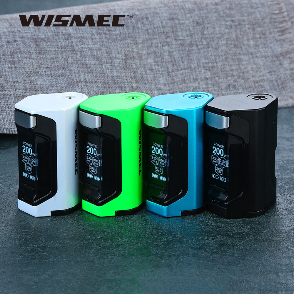 New Original WISMEC Luxotic DF TC Box MOD with 200W Huge Power & 1.3 Inch Display Squonk Mod VS WISMEC Luxotic BF/RX GEN3 Mod цены