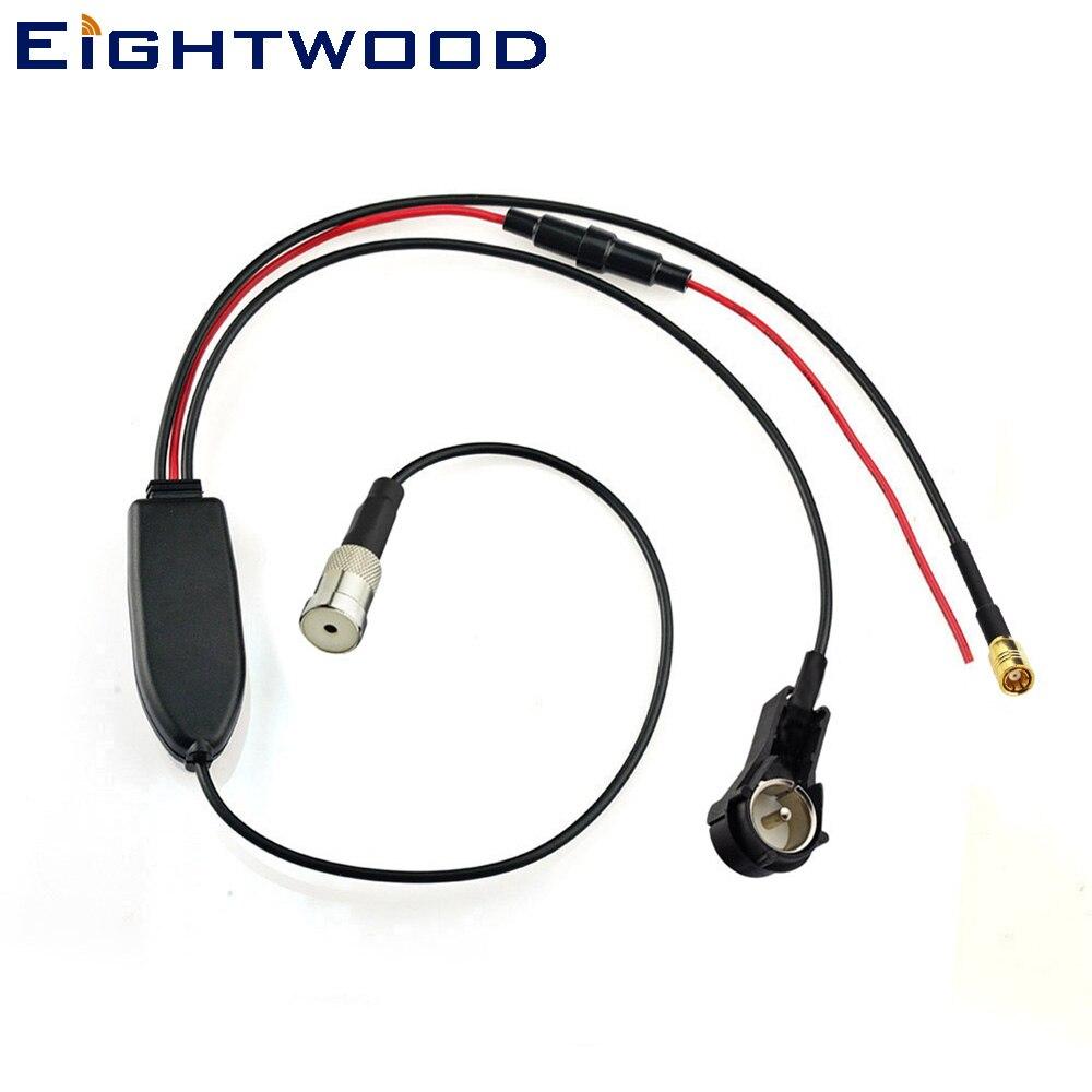 Eightwood conversión FM/AM para DAB/FM/AM radio de coche ISO conectores convertidor/divisor /amplificador Para Kenwood DAB