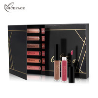 NICEFACE 12Pcs Set Liquid Lipsticks Waterproof Matte Moisturizer Smooth Long Lasting Lip Gloss Cosmetic Beauty Lip
