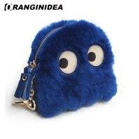 Wool Coin Purse for Women Cute Clutch Bags Lady Small Lovely Cartoon Handbags Female Mini Wallets Bag Accessories