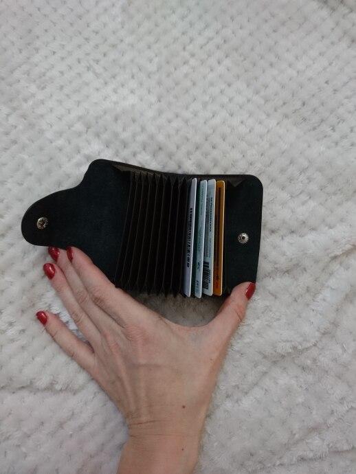 BLEVOLO 15 kaarten slots echt leer creditcardhouder mannen vrouwen visitekaartje pakket broekzak unisex hasp identiteitskaart gevallen photo review