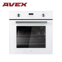 Встроенная электрический духовой шкаф с конвекцией AVEX HM 6183 W (дисплей, стеклянный фасад, 8+1 функций)