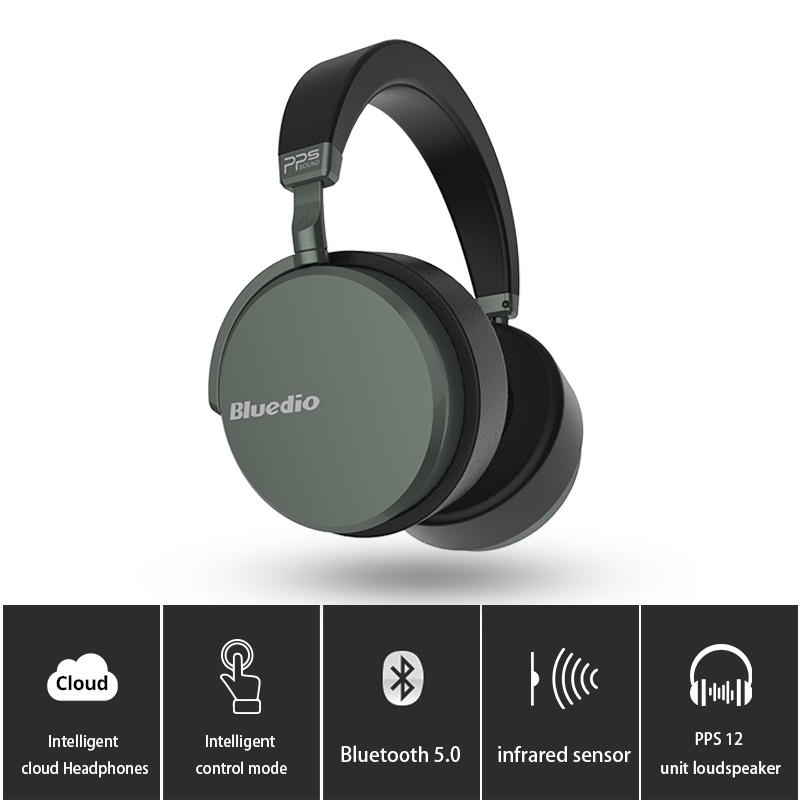 Bluedio V2 Bluetooth Headphones Wireless Headset PPS12 Drivers With Microphone High-end