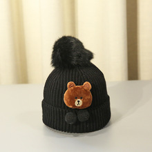 2017 new baby hat bear autumn and winter 1 4 year old male and female children