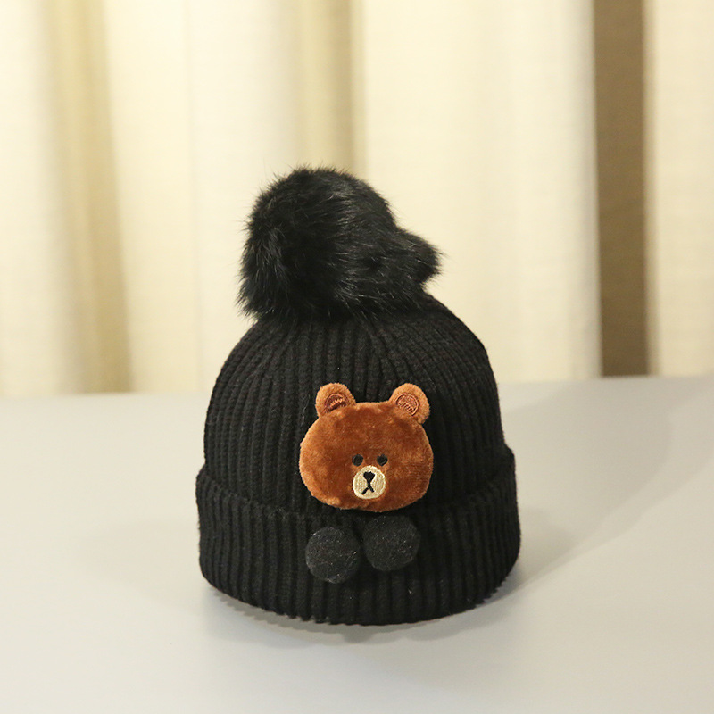 2017 new baby hat bear autumn and winter 1 4 year old male and female font