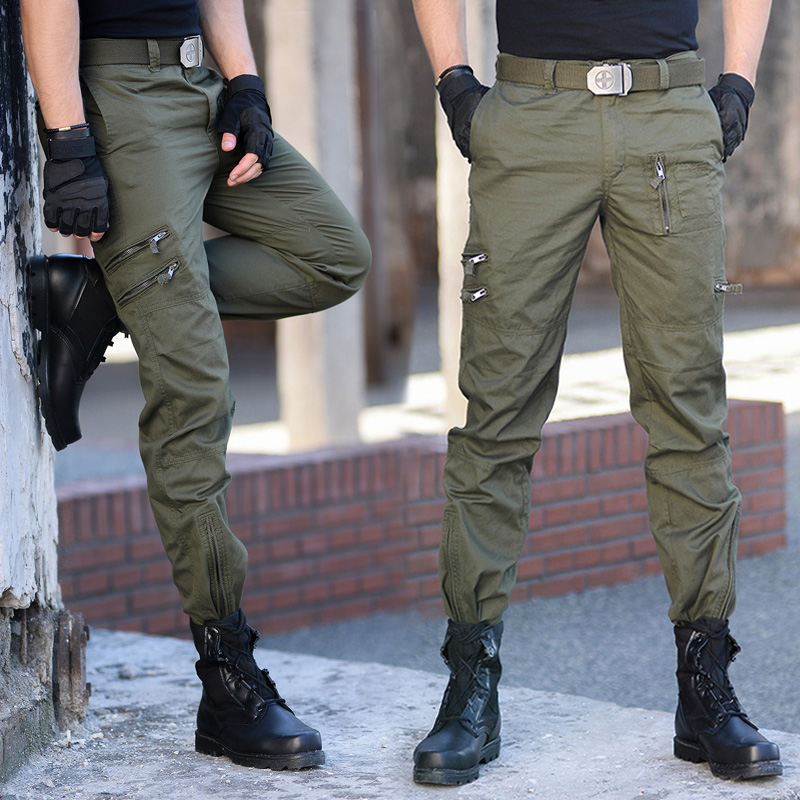 Tactical Cotton Cargo Pants Men Military Special Force Camouflage Combat Pants Mens SWAT Trousers Many Pockets City Casual Pants