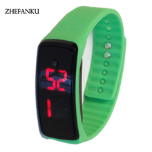 Women Men LED Digital Screen Watch New Silicone Watchband Dress Sports Watches Fashion Outdoor Wristwatches children for pupil