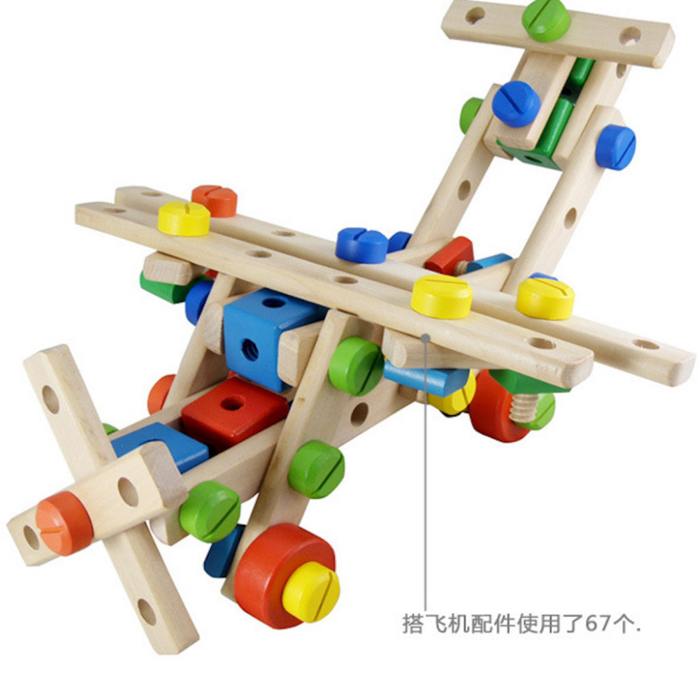 Colorful Wooden Baby Beat Toys With Hammer Multi Functional Box Nut Combination
