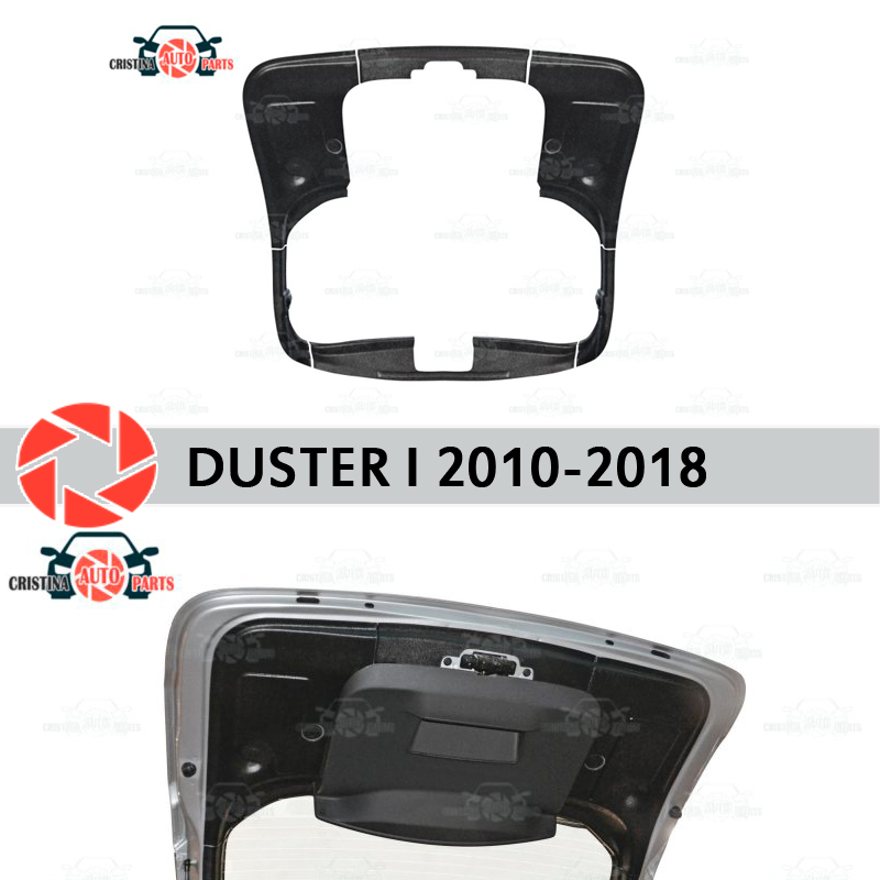 Ajuste en la tapa del maletero para Renault Duster 2010-2018 accesorios cubierta protectora protector de la puerta trasera de la protección de la decoración del coche estilo
