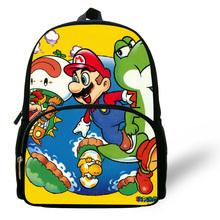 12-cal Mini Cartoon Super Mario plecak dla dzieci torby szkolne dla chłopców w wieku 1-6 plecak torba dziecięca dla dziewcząt Mochila Infantil tanie tanio 12 5cm CALOPAKER zipper Oxford zb185 30cm 0 3kg 24cm Chłopcy