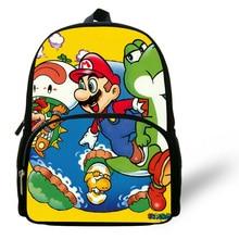 12-inch Mini Cartoon Super Mario Backpack Kids School Bags For Boys Age 1-6 Backpack Children Bag For Girls Mochila Infantil 2016 new top quality pink hello kitty plush cartoon toy children backpack school bag gift for kids age 1 2 mochila infantil