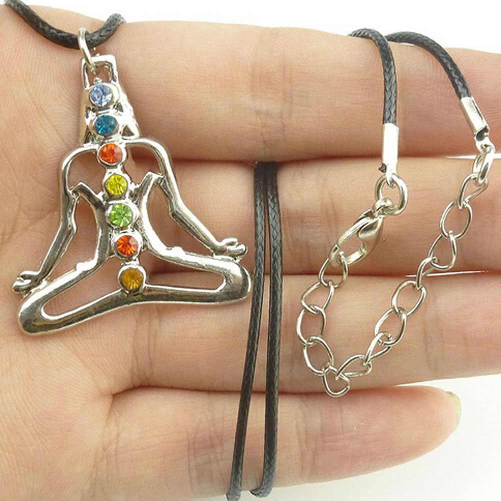 Inde bouddha Yoga méditation guérison Chakra Mandala pierres et cristaux strass collier boîte à bijoux femmes
