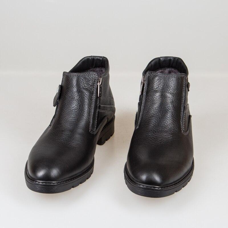Bull Lederen Mannen Laarzen Lente Herfst En Winter Man Schoenen Enkellaars heren Sneeuw Schoen Werk Plus Size 39 44 000 009 - 3