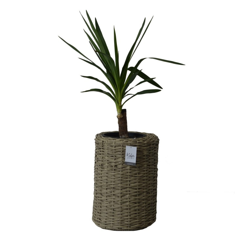 AMAZONAS Planter. With Tropical Inspiration. Cubic Form Hand-woven With Premium Synthetic Rattan Rope.
