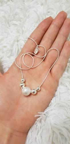 LN019 Lost Money Promotions Free shipping Beautiful fashion Elegant silver plated charm chain bead pretty Necklace jewelry 925