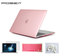 crystal screen Crystal Hard Case Cover+Keyboard Cover+Screen Film+Dust Plugs For Macbook Air 11 13 Pro Retina 12 13 15 Touch Bar 13 15 (5)