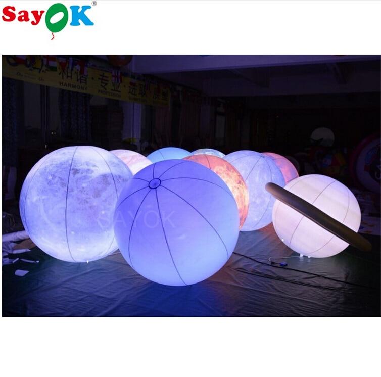 1 m (3.3ft) Dia planètes gonflables système solaire 9 planètes modèle ballons pour enfants jouets d'apprentissage précoce établissement d'enseignement