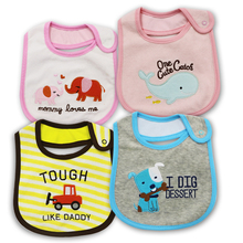 Бесплатная доставка 100% хлопок Baby Bib младенца слюны Полотенца маленьких Водонепроницаемый нагрудники одежда для новорожденных мультфильм Интимные аксессуары фигуры животных