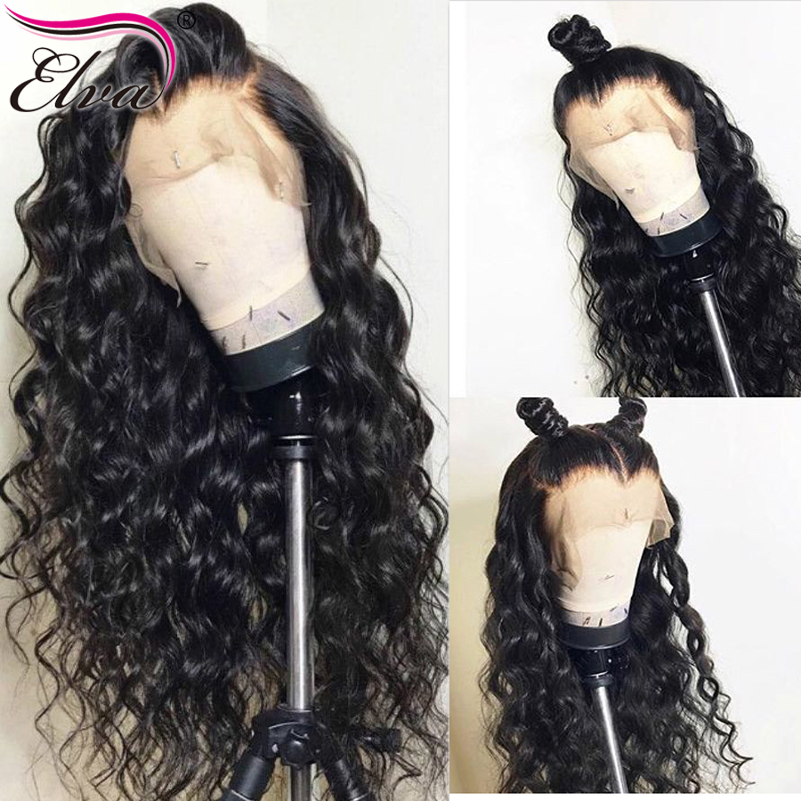 Elva Hair 13x6 Lace Front Human Hair Wigs Water Wave Brazilian Remy Hair Lace Wigs For Black Women With Baby Hair Pre Plucked
