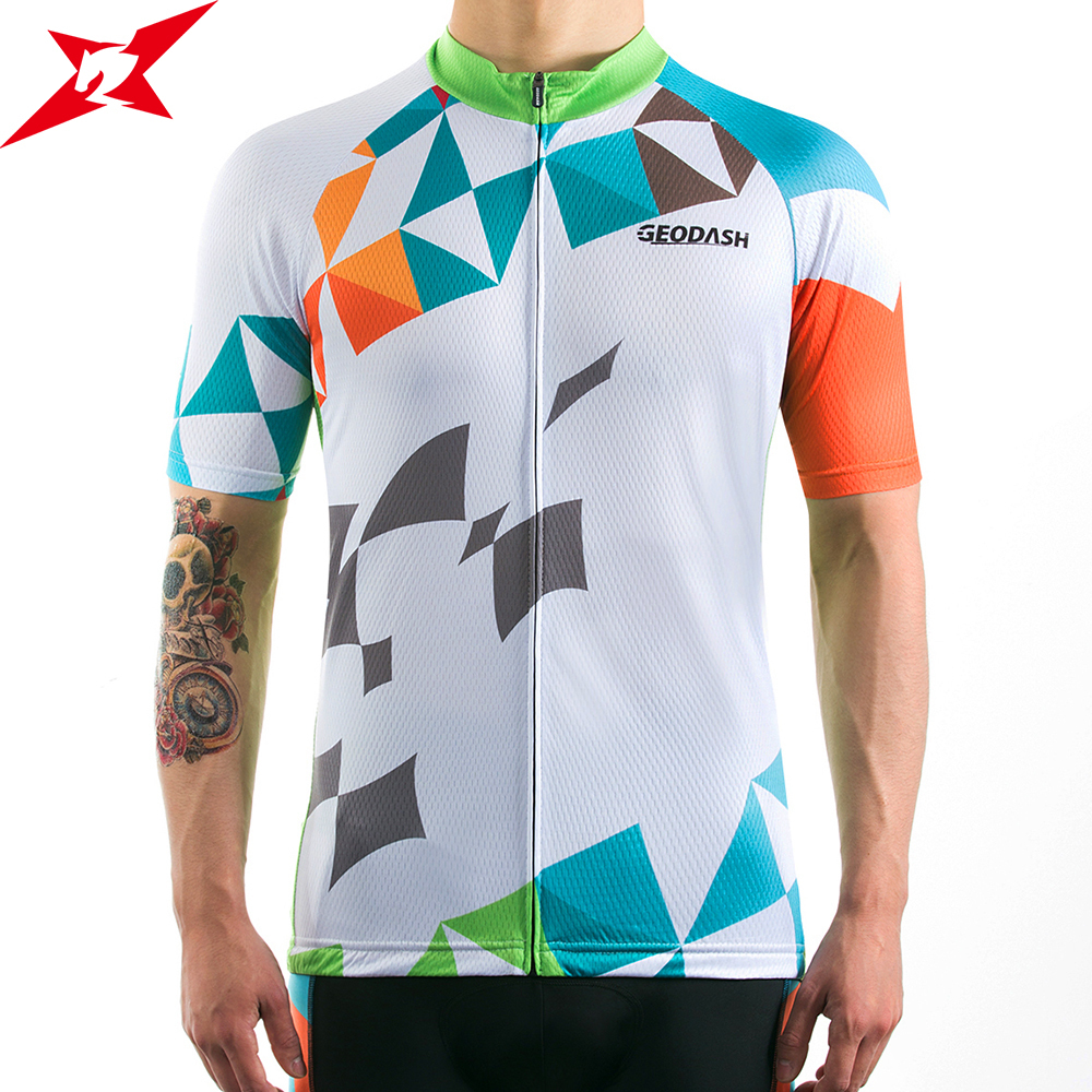 GEODASH Jersey Cycling Man 2019 High Quality Breathable Summer Mtb Shirt Quick Dry
