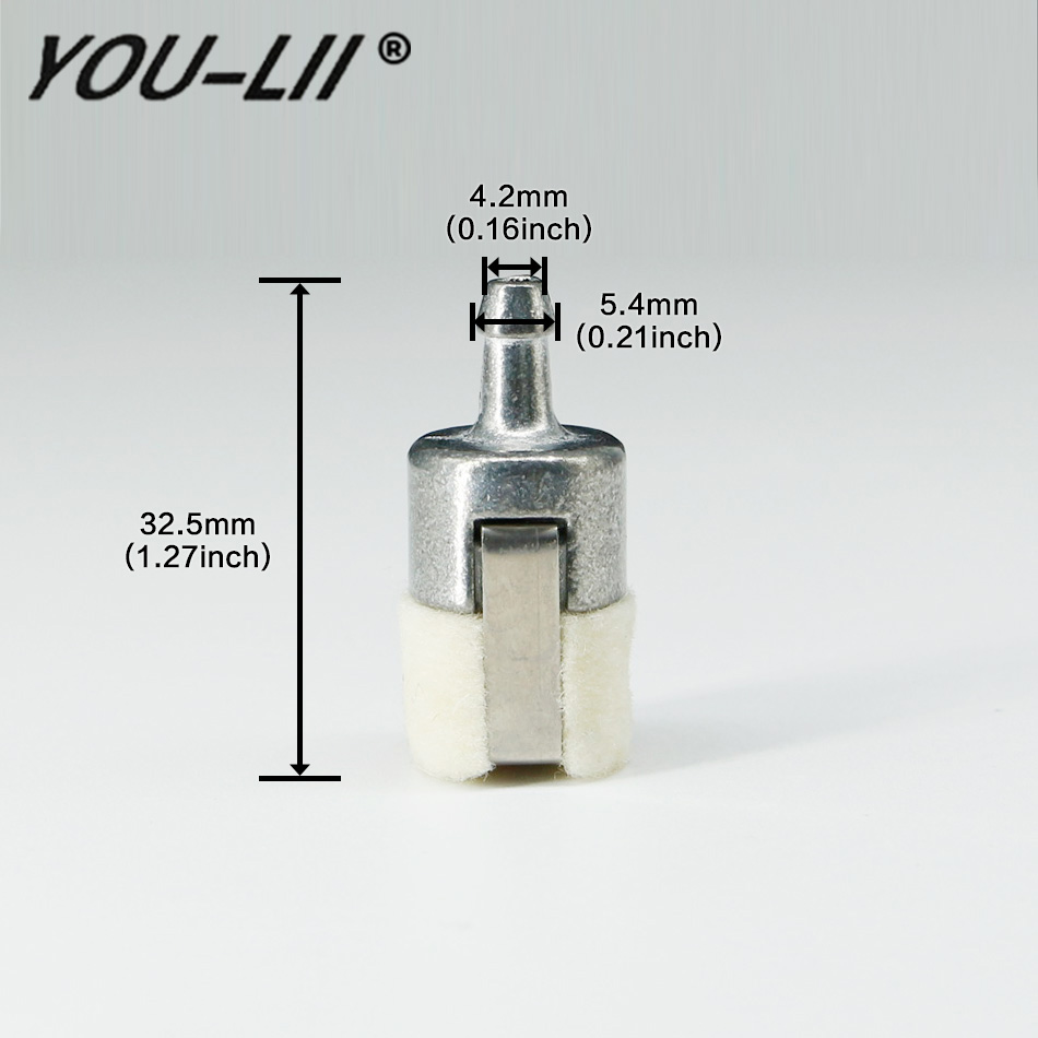 small resolution of youlii 5pcs gas fuel filters for homelite stihl pouland echo carburetor chainsaws 1z686