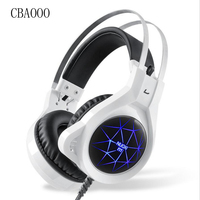 Stereo Gaming Headphone USB 3 5mm PC Glowing Bass Headset LED Light With Microphone Noise Canceling