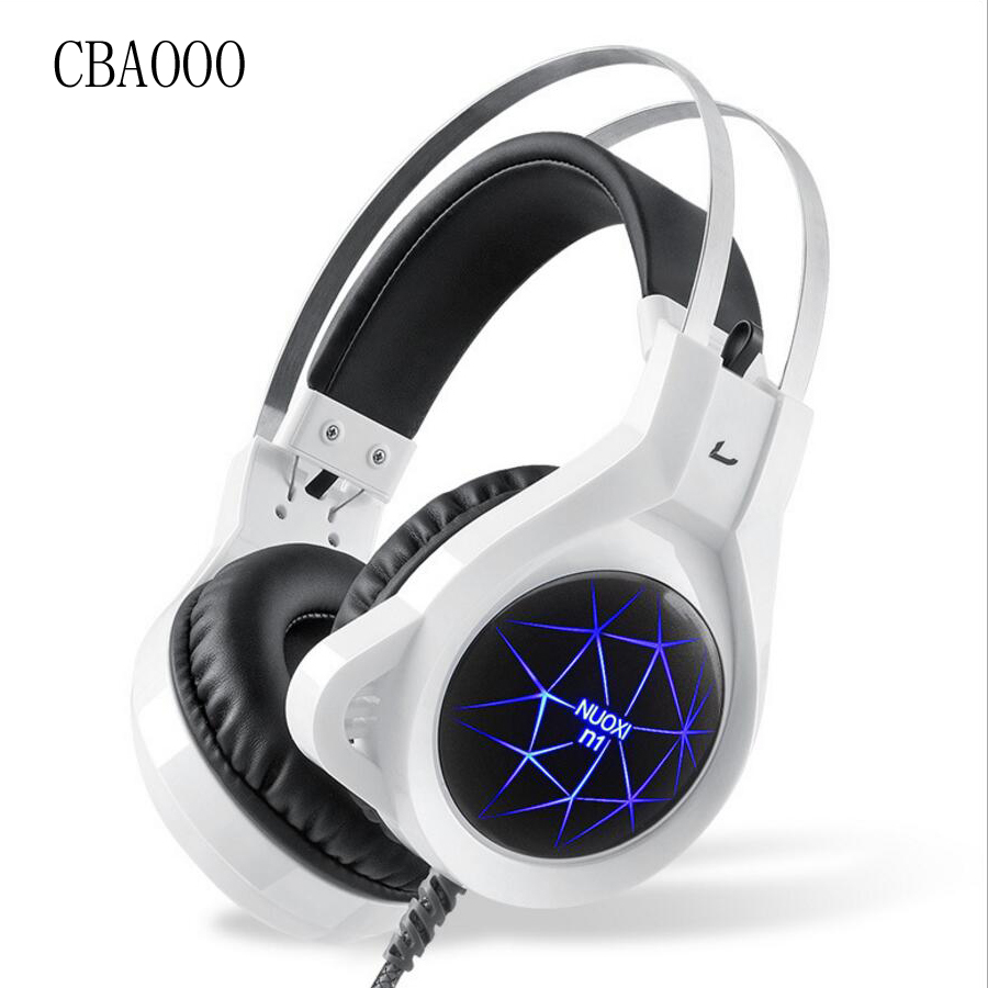 Super Bass Headphones Gaming Headset 3.5mm+USB Professional Computer Game casque Headphone With Microphone Fone For PC Gamer super bass gaming headphones with light big over ear led headphone usb with microphone phone wired game headset for computer pc