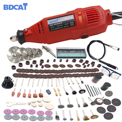 BDCAT 180 와트 110 볼트/220 볼트 드레 멜 스타일 로타리 도구 조각 미니 드릴 연삭 기계 207 개 전원 도구 액세서리