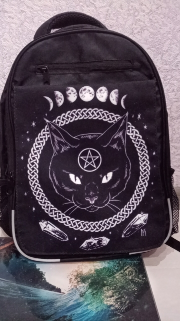 Witch Cat Moon Backpack photo review