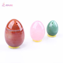 HIMABM Natural Agate Rose Quartz Aventurine Egg For Kegel Exercise Pelvic Floor Muscles Vaginal Exercise Yoni Egg Ben Wa Ball