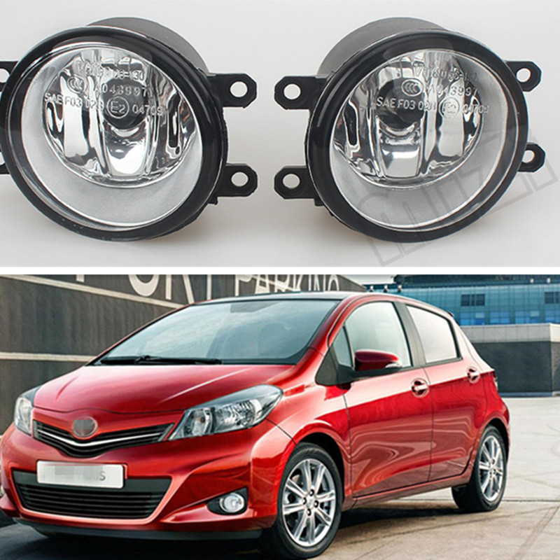 For TOYOTA YARIS Hatchback NLP13 NSP13 NCP13 KSP13 2011-2014 Fog Lamps( esquerda + direita ) Car Styling Fog Lights Halogen 1SET for car styling front bumper fog lights para toyota iq kgj1 ngj1 2012 2013 fog lamps esquerda direita halogen 1set